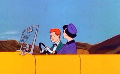 Lois Lane's yellow car