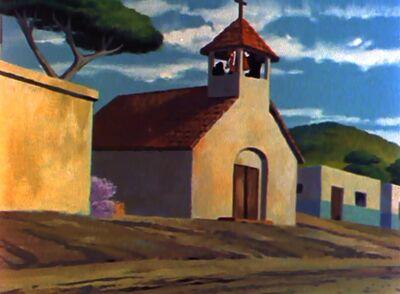 South American village