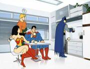 Justice League break room