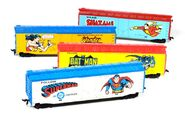 Tyco Super Heroes Boxcars