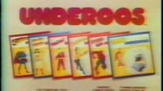 BLOCK OF VINTAGE 80'S UNDEROOS UNDERWEAR COMMERCIALS