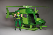 Green Arrow and Helicopter