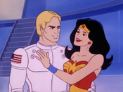 Steve and Diana (09x03 - The Darkseid Deception)