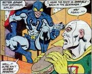 Blue Beetle vs. Chronos the Time Thief
