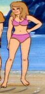 Girl pink bikini