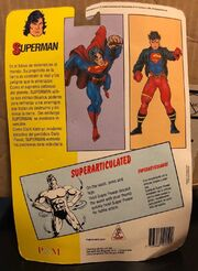 Superman (Super Powers figure) reverse side