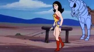 Wonder Woman vs Robot Cowboy Western Duel
