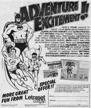 Letraset comic ad