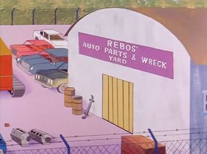 Rebos' Auto Parts & Wreck Yard (01x08 - The Androids)