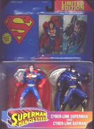 Cyber-Link Superman and Cyber-Link Batman (trading cards)