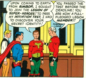 Ultra Boy Joining the Legion, Superboy 98 (1962)