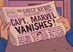 A newspaper headline