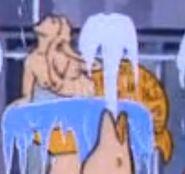 Topless Mermaid Statue
