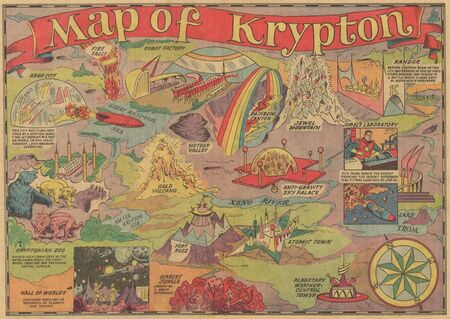 Map of Krypton (Superboy 100)
