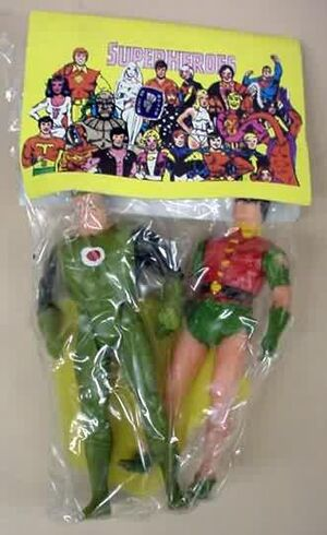 Green Lantern Robin Super Powers figures