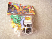 Captain America, Hulk, Spider-Man, Human Torch and Falcon with Jeep (Super Amigos toy)
