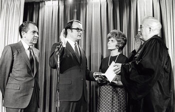 William Ruckelshaus Swearing In as EPA Administrator