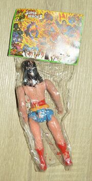 Wonder Woman (Super Heroes figure) reverse side