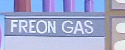 Freon gas