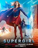 Постер к кроссоверу четырех сериалов