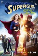 Poster del crossover Flash Supergirl