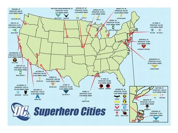 Cities in the DC Universe