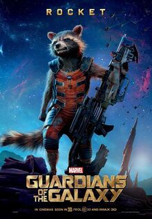 Rocket in the Guardians of the Galaxy movie