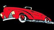 Simple Red Batmobile