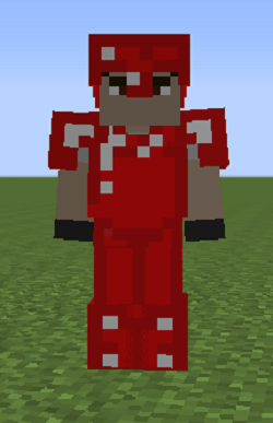 how to make red armor in minecraft