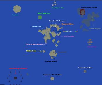 Sunburn Islands Map.