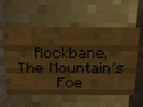 Rockbane, The Mountain's Foe