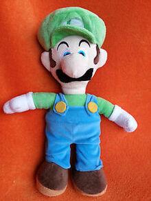 Luigi plush toy