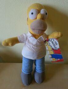 Homer simpson plush toy