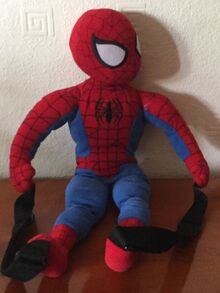 Spiderman plush toy backpack