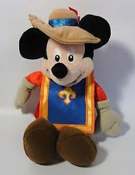 Mickey mouse musketeer plush toy