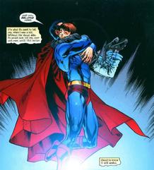 Superman y su hijo adoptivo Chris