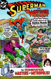 Superman Wonder Woman Radio Shack