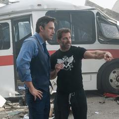 Zack y Ben en el set