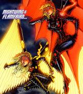 Nightwing-flamebird-supergirl-powergirl