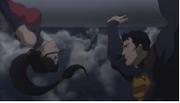 Superman conociendo a la Mujer Maravilla