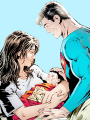 Birth of the son of Superman