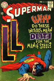 Superman 204 LL initials