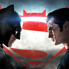 Baner de Batman vs Supermn