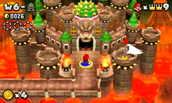NSMB2 World 6 Bowser Castle