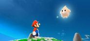Mario looking at Luma