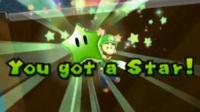 Luigi getting a Green Star