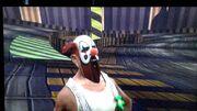 Huging the clown