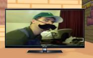 LuigiDeathStareOnTV