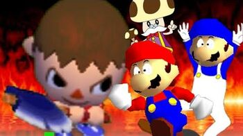 SM64 bloopers Can the Villager come out to play?