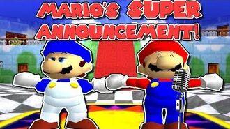MARIO'S SUPER ANNOUNCEMENT!!